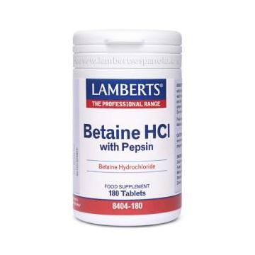 Betaina HCI 324mg. / Pepsina 5mg. 180 comprimidos
