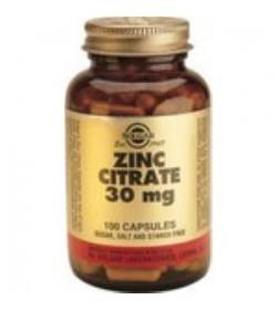 Citrato de Zinc 30mg. 100 cápsulas